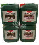 CANNA Hydro Vega+Flores (hard water) 4x5L Pack